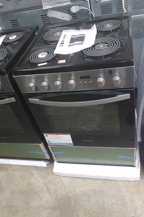 """Frigidaire new 24"""" coil top electric stove with 1 year warranty."""