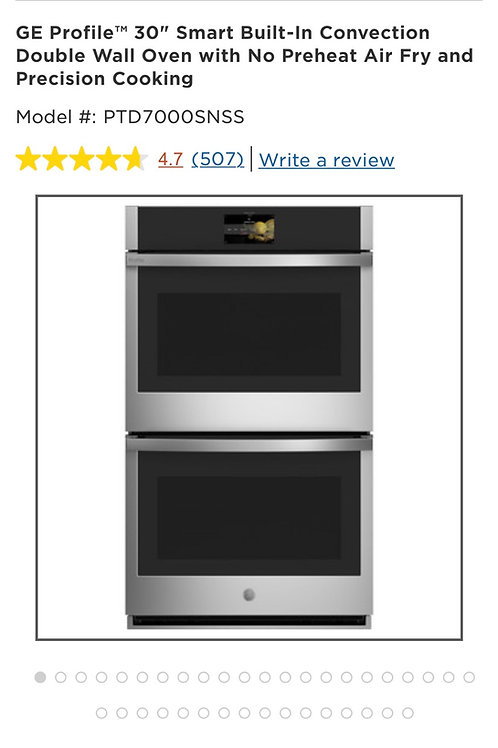 """Ge new double 30"""" Convection double wall oven."""