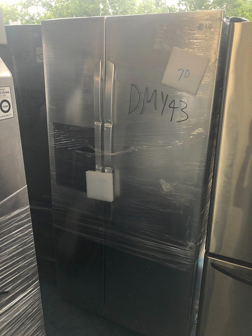 "36""new scratch dent stainless side by side fridge water ice 1 year warranty"