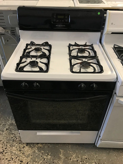 Frigidaire Black And White Gas Stove 0001