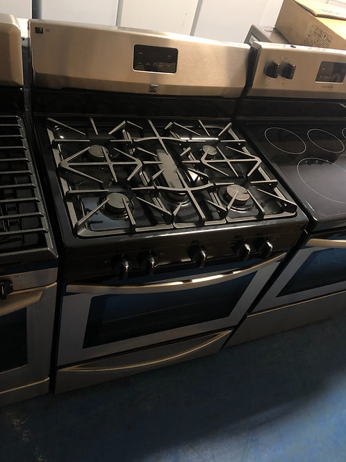 Kenmore stainless 5burner gas stove great working order 90 days warranty