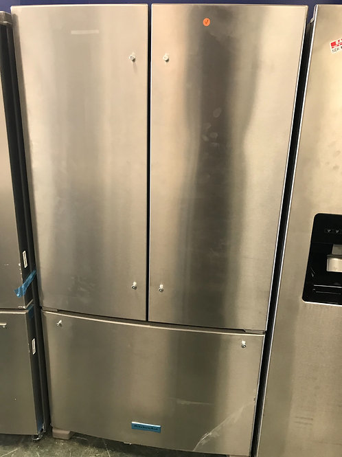 Kitchen aid brand new open box stainless steel F/D fridge with warranty.