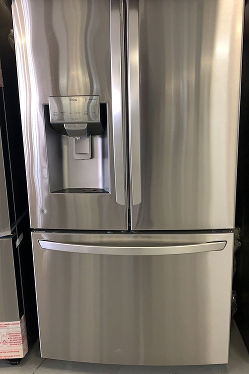 new lg open  box french door fridge with warrbty
