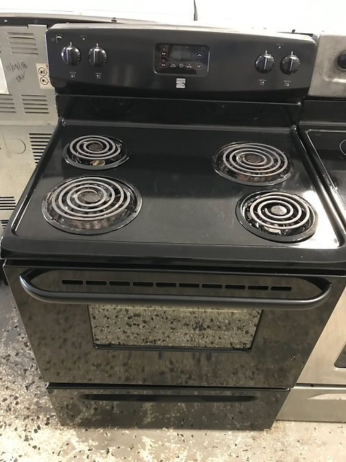 Kenmore brand refurbished electric coil top works great 60 days warranty.