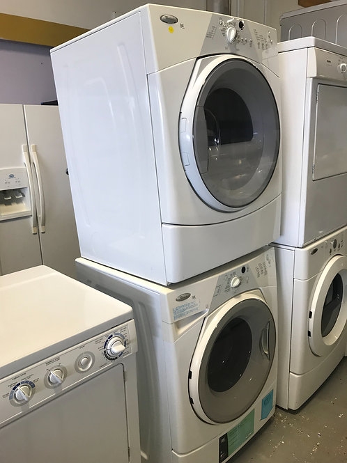 Whirlpool stackable front load washer dryer set
