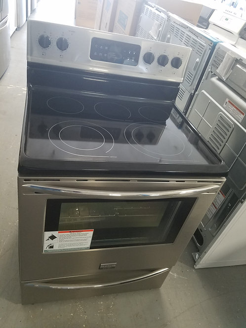 Frigidaire glass top stainless steel stove new