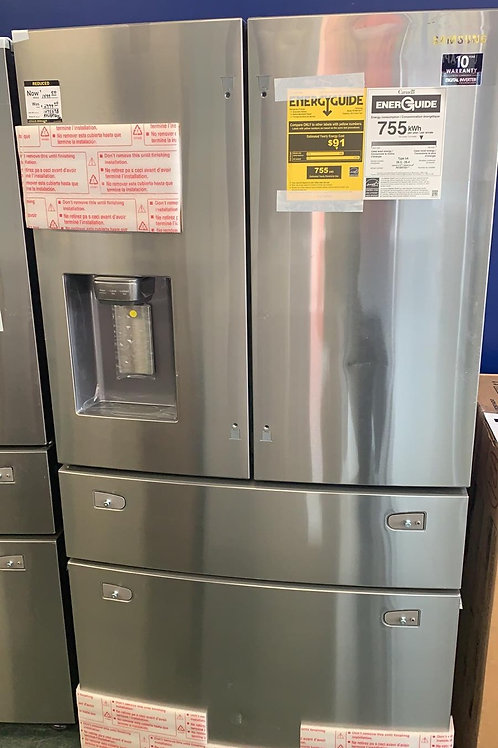 """Samsung new open box stainless steel 36"""" French door refrigerator."""