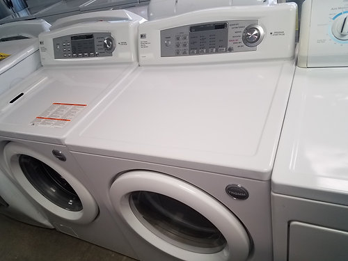 lg frontload load washer and dryer set