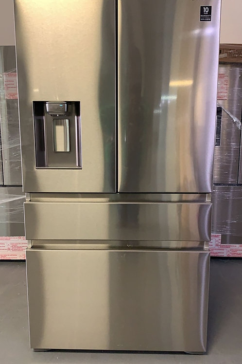 """Samsung new stainless steel Counter depth 36"""" french door refrigerator."""