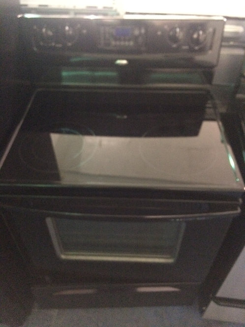 WHIRLPOOL BLACK ELECTRIC STOVE GREAT WORKING 90 DAYS WARRANTY
