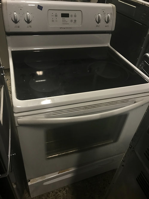 Frigidaire brand refurbished electric glass top stove.