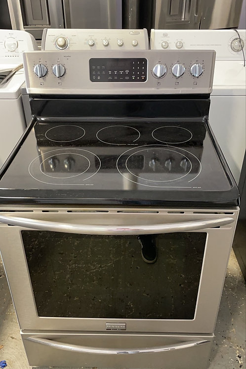 Frigidaire return model stainless steel electric glass top stove.