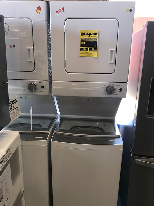 """Whirlpool brand new open box 24"""" stackunit works great with warranty."""