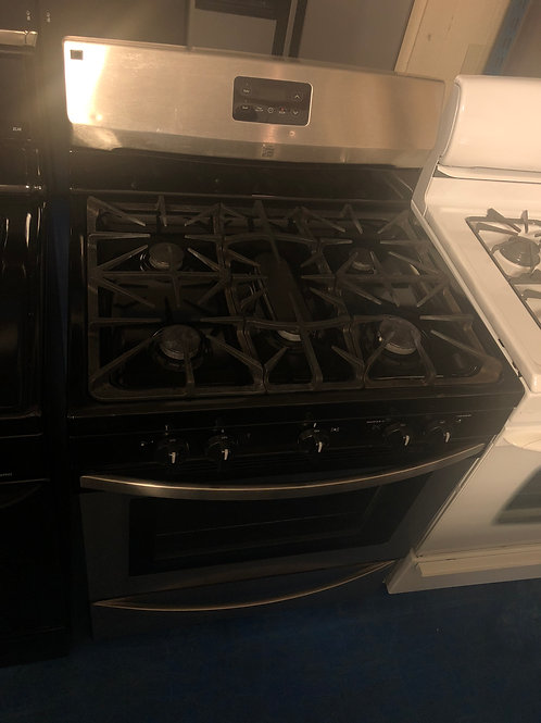 Kenmore stainless 5 burner gas stove with 90 days warranty