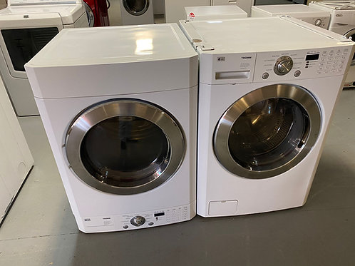 LG USED FRONT LOAD WASHER DRYER ELECTRIC SET WITH WARRNTY