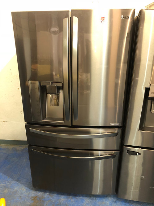 """36""""open box scratch and dent black stainless 4door Frenchdoor with 1 year warran"""