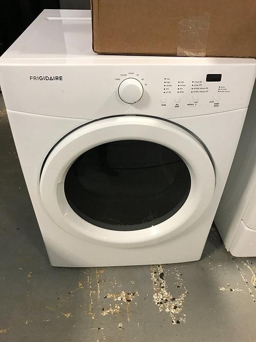 Frigidaire brand refurbished stackable dryer works great.