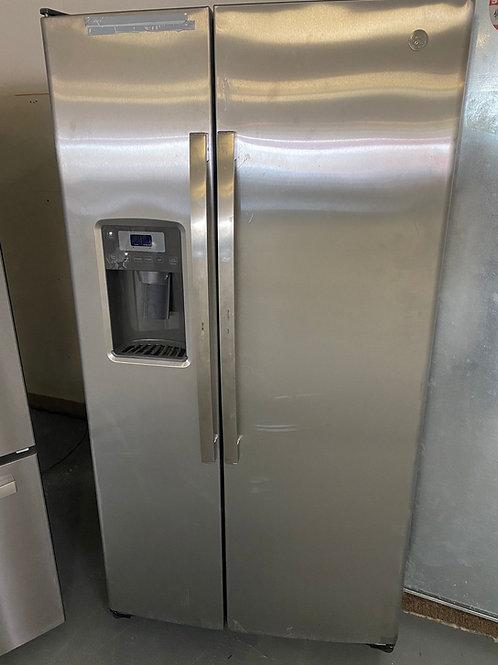 ge side by side fridge stainless steel with warrnty