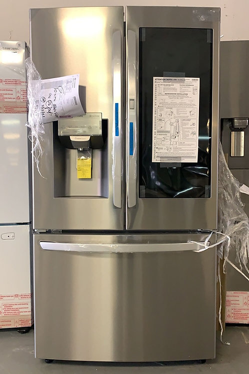 LG new stainless steel french door refrigerator with 1 year warranty.