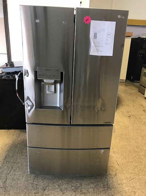 Lg brand new open box scratch and dent French door refrigerator stainless steel.