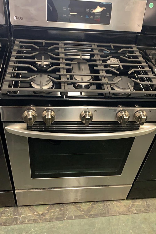 LG new open box stainless steel convection gas
