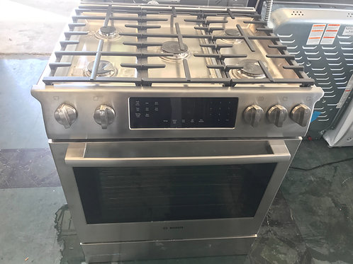 Bosch brand new stainless steel slide in gas stove with warranty.