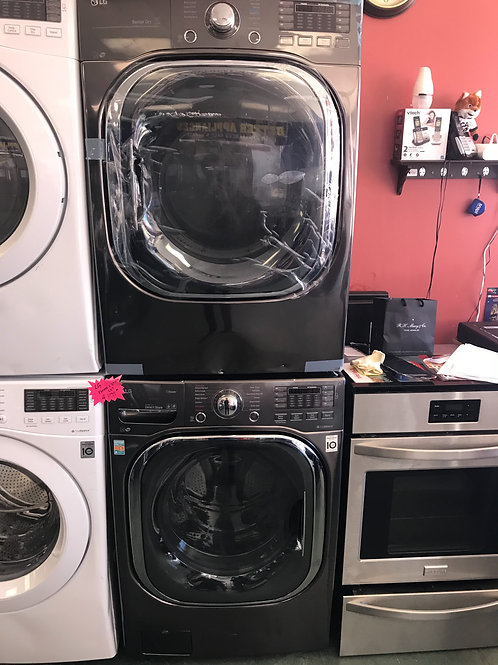 Lg brand open box scratch and dent model stackable washer dryer set.