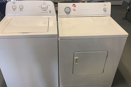 used top load washer dryr set with warrnty