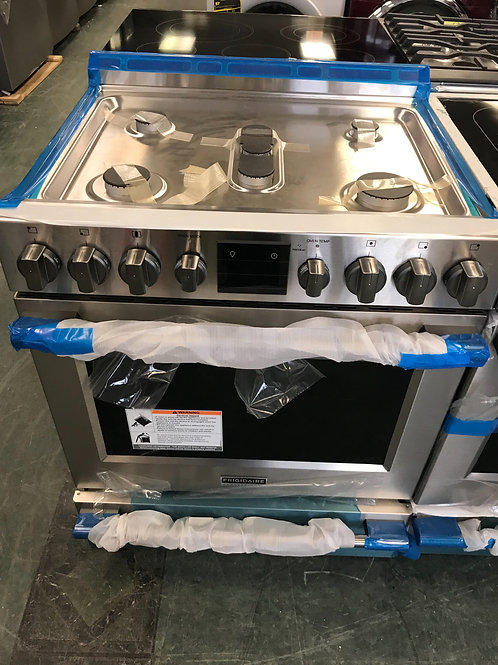 "Frigidaire professional brand new stainless steel gas range 30"" with warranty."