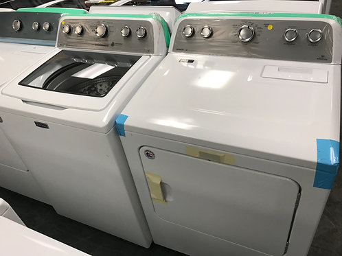 Maytag brand new open box glass top washer dryer set works great.