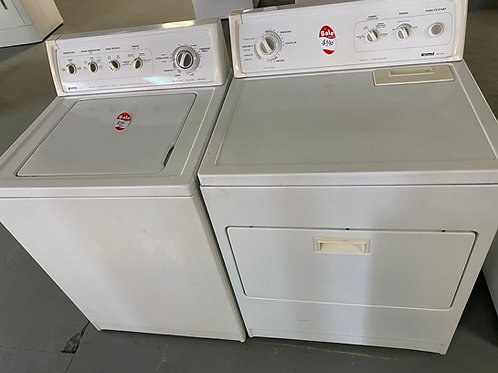 kenmre topload washer dryr set with warrnty