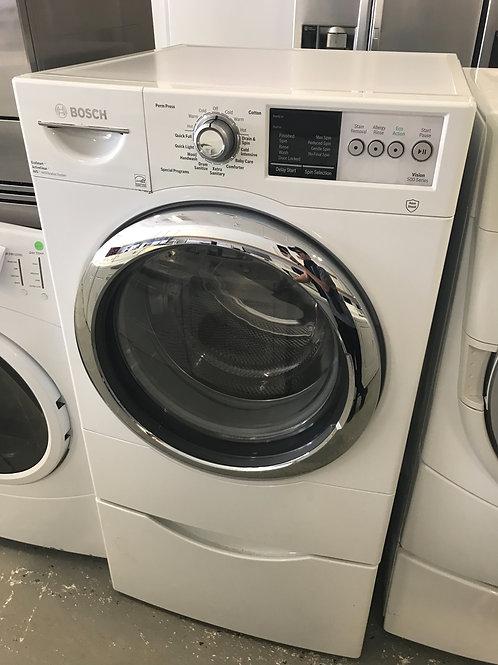 Bosch brand refurbished frontload washer works great 60 days warranty.