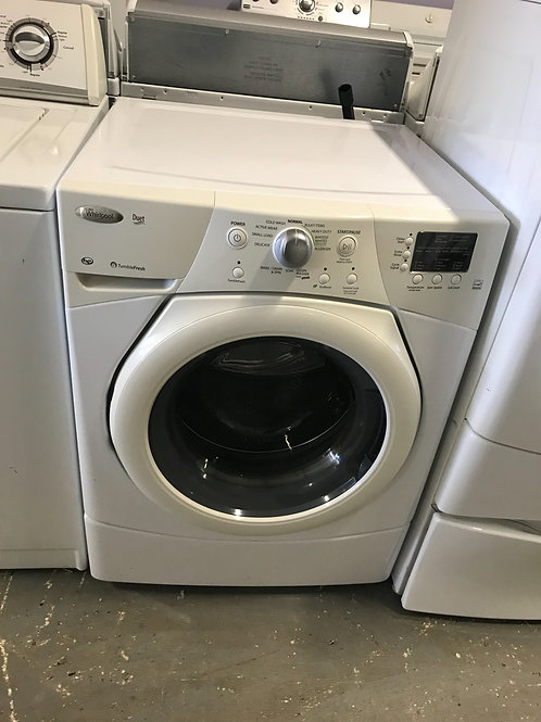 Whirlpool brand refurbished stackable washer.