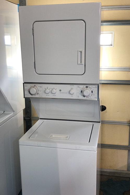 "24""ge stackunit washer dryer great works with 90 days warranty"