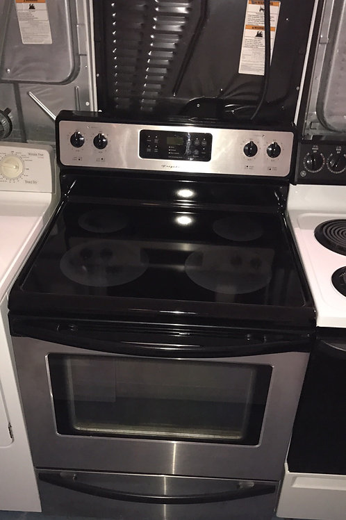 FRIGIDAIRE STAINLESS ELECTRIC STOVE GREAT WORKING ORDER WITH 90 DAYS WARRANTY