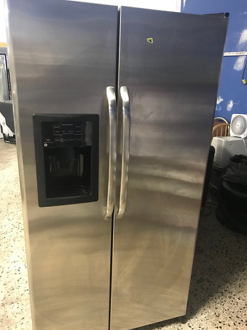 "Ge brand refurbished 36"" stainless steel S By S refrigerator works great."