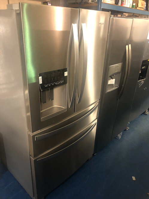"""36""""whirlpool new scratch and dent stainless 4door Frenchdoor with 1 year warrant"""