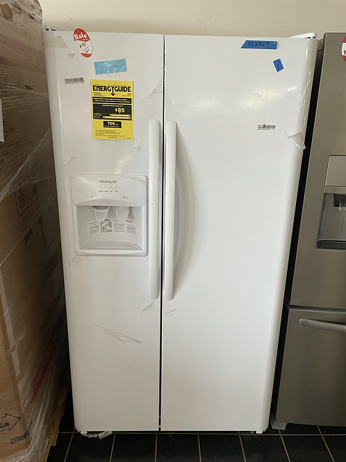 """Frigidaire new open box 36"""" Side by Side refrigerator."""