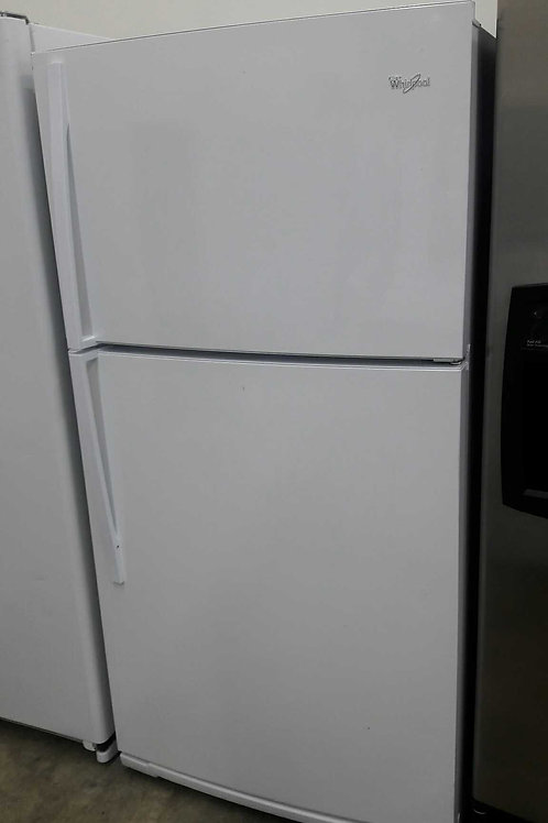 "33"" width whirlpool top and bottom fridge white"