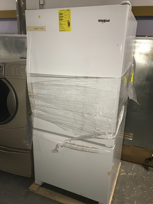 Whirlpool brand new open box bottom freezer with warranty.