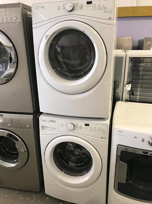 Whirlpool brand refurbished frontload washer dryer set  60 days warranty.