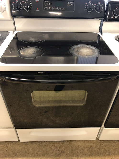 "30"" GE GLASS TOP ELECTRIC STOVE WITH WARRANTY"