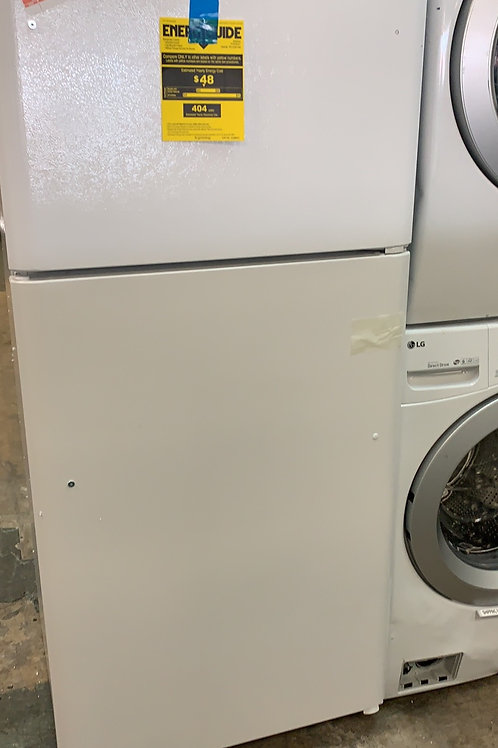 Brand new Frigidaire white top and bottom fridge with one year warranty
