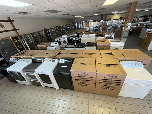 New & Used open box and In Box electric and Gas dryers on Sale $350 and up.