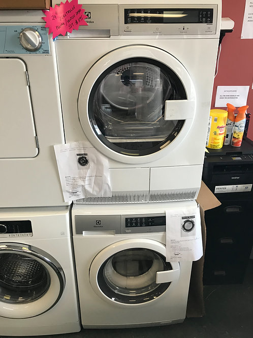 24 inch Electrolux washer dryer set