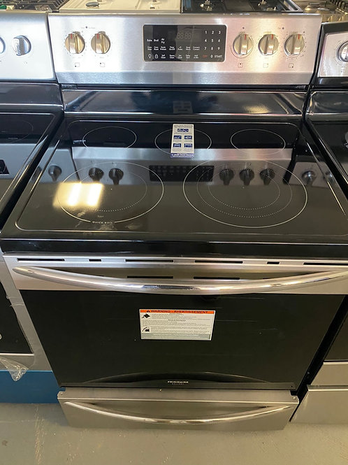"""Frigidaire gallery stainless steel electric range with Air fryer feature 30""""."""