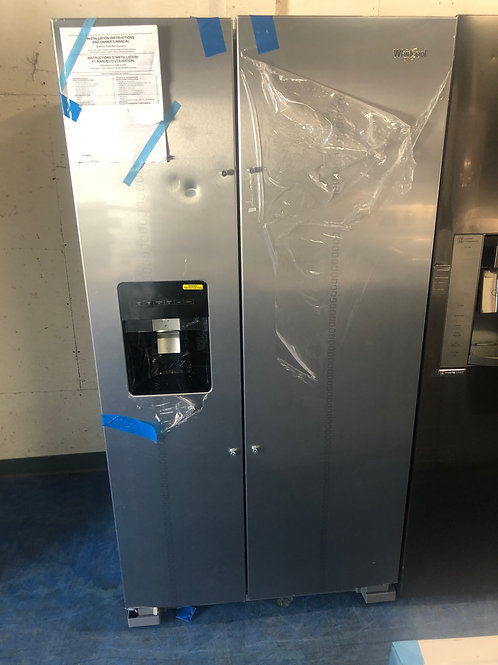 "36""whirlpool new scratch dent stainless side by side fridge 1 year warranty"