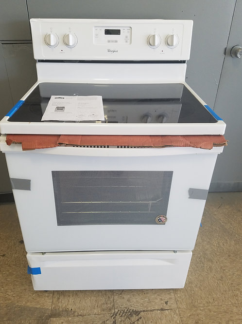 """30""""new whirlpool electric stove glass top white"""