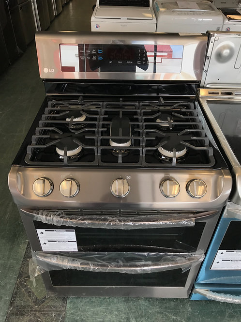 New Lg black stainless steel 5 burner gas stove