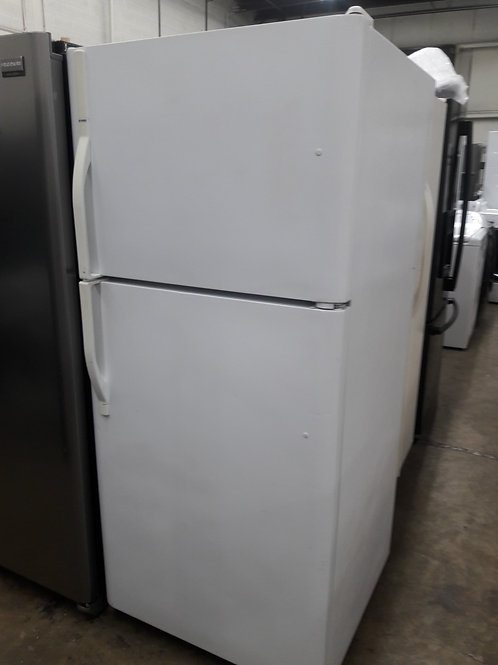 "30""Kenmore top and bottom fridge white"